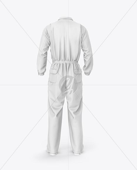 Worker Uniform Mockup – Back View