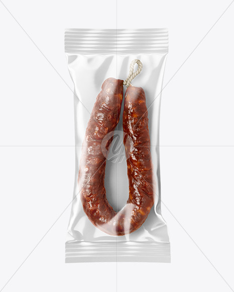 Chorizo Sausage In Package Mockup