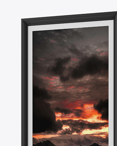 Photo Frame Mockup - Right Side View
