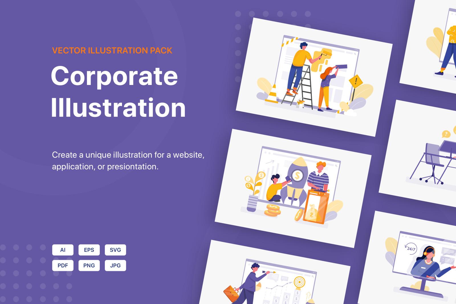 Corporate Illustration Pack