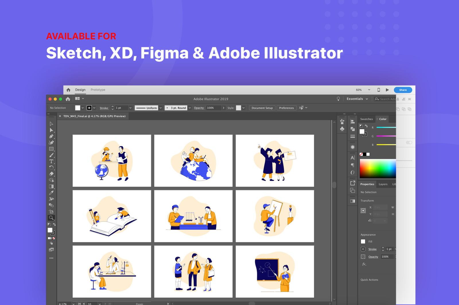 School & Education Illustration Kit