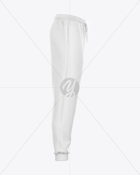 Sweatpants with Cord Mockup - Right Side View