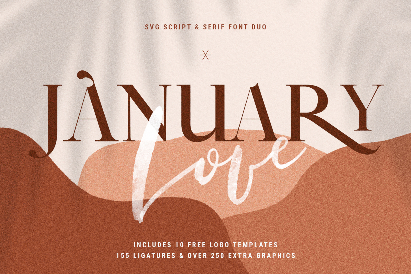 January Love Svg Font Duo With Free Logo Templates Hand Drawn Graphics In Fonts On Yellow Images Creative Store