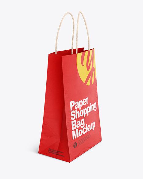 Download Textured Shopping Bag Rope Handles Mockup PSD - Free PSD Mockup Templates