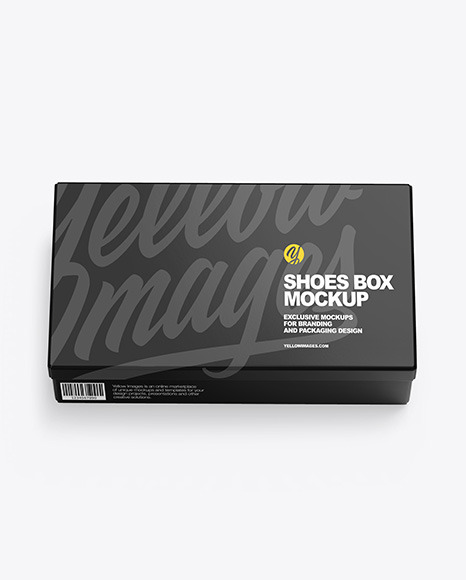 Glossy Shoes Box Mockup In Box Mockups On Yellow Images Object Mockups
