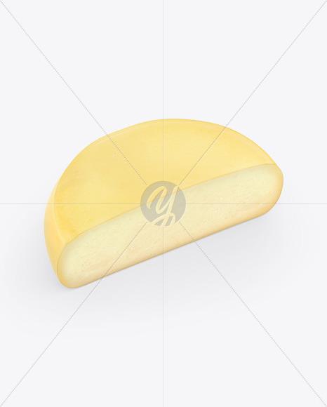Half Cheese Wheel Mockup