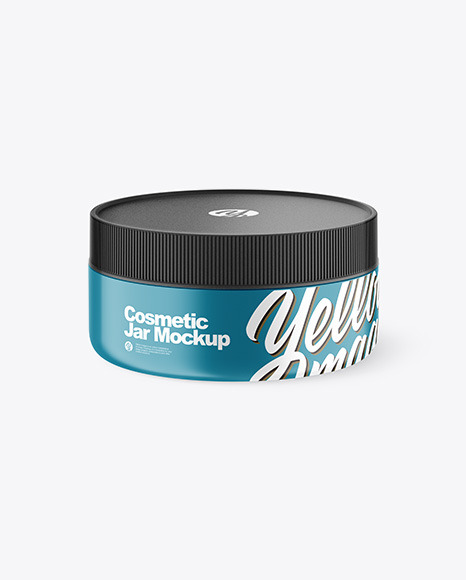Matte  Cosmetic Jar Mockup - High-Angle Shot