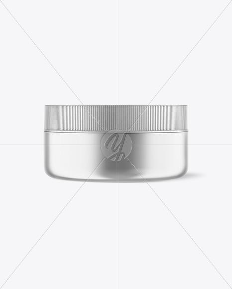 Metallic Cosmetic Jar Mockup - Front View