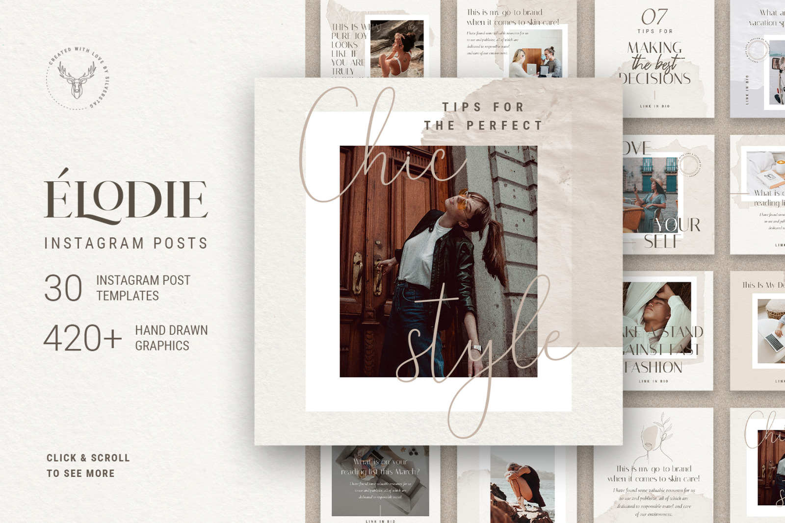 Elodie - Social Media Templates Pack 50% OFF
