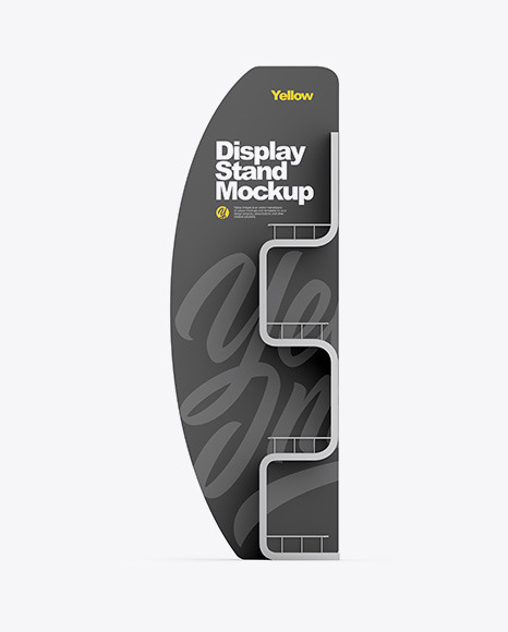 Metallic Display Stand Mockup