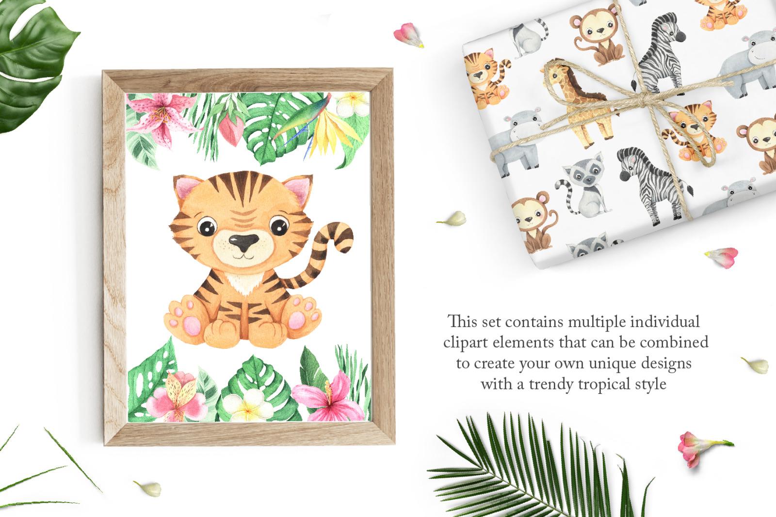Watercolor Tropical Babies Set