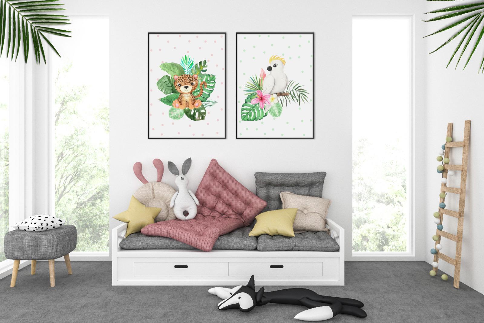 Watercolor Tropical Babies Set 3