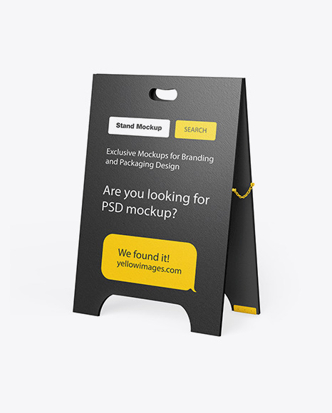 Download Textured Glossy Street Stand Mockup In Outdoor Advertising Mockups On Yellow Images Object Mockups PSD Mockup Templates