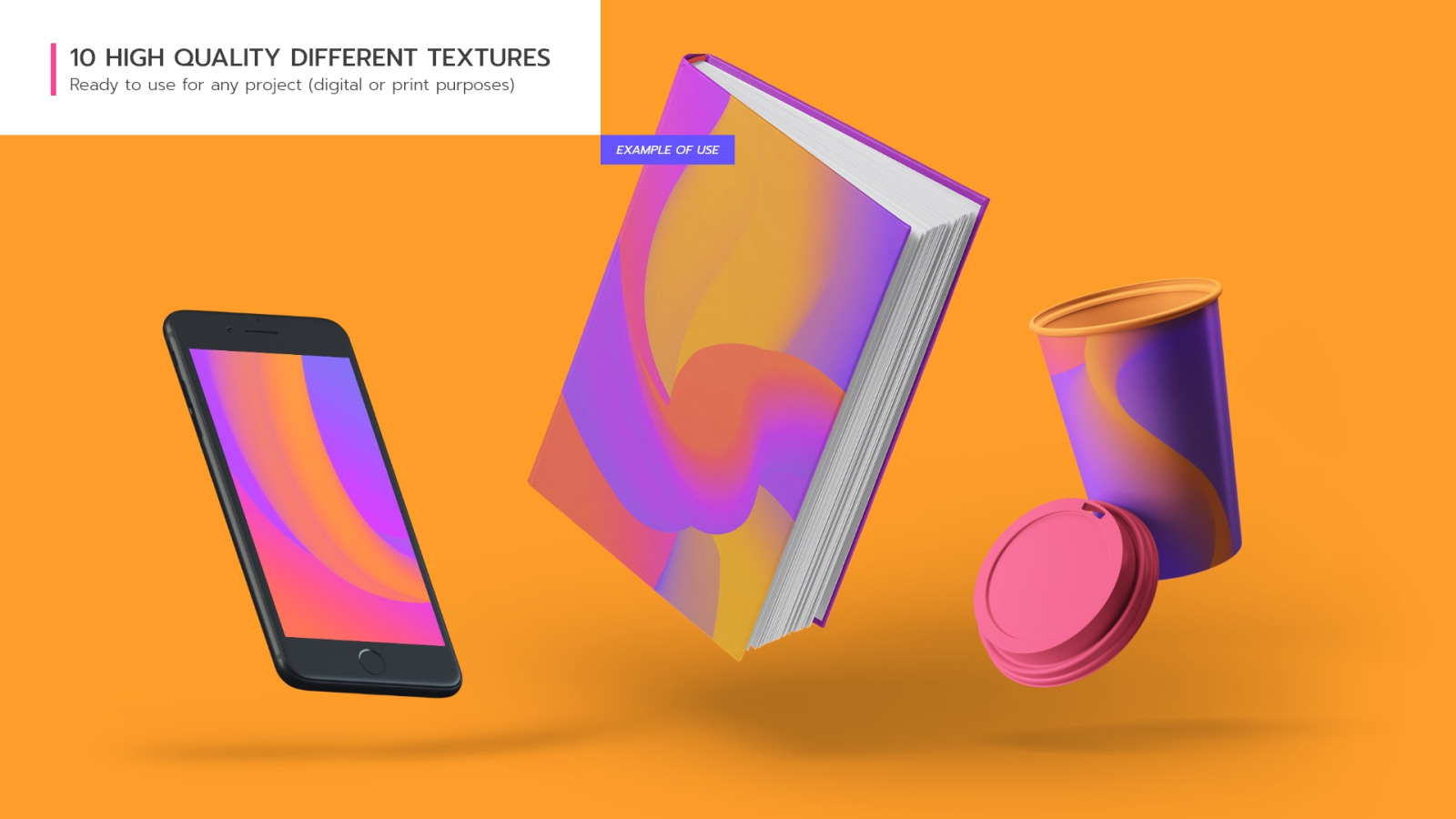 Abstract 3D Flow Backgrounds Vol.4