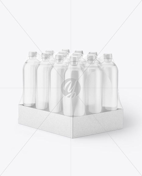 Download 4 Bottles Condensation Pack Mockup Half Side View PSD - Free PSD Mockup Templates