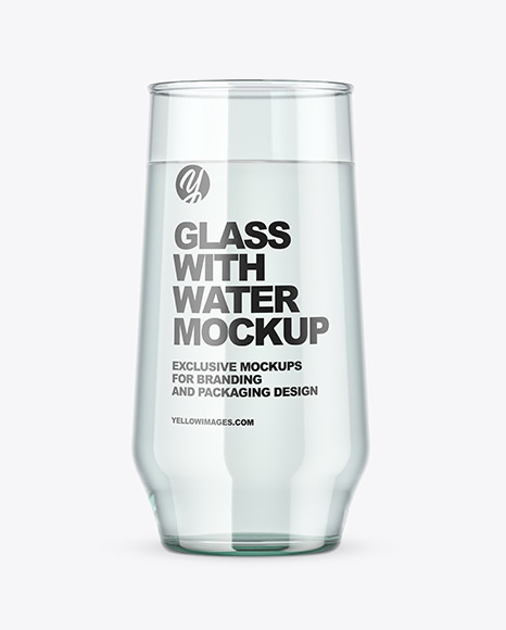 Clear Glass With Water Mockup