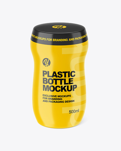 Download 500ml Plastic Bottle With Pump Mockup PSD - Free PSD Mockup Templates