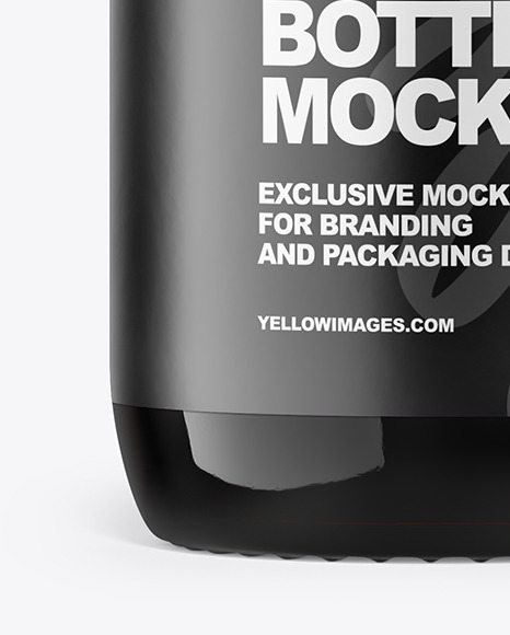 50ml Amber Glass Bottle Mockup