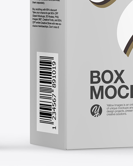 Matte Cosmetic Tube with Box Mockup