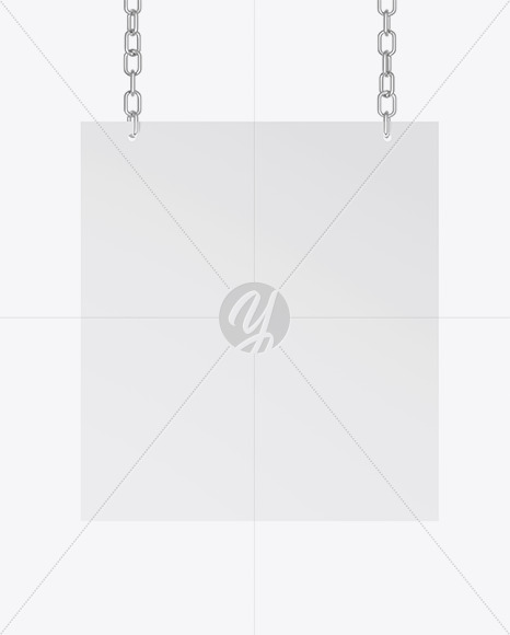 Sign w/ Chain Mockup