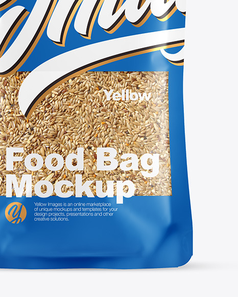 Food Bag With Grain Oats Mockup
