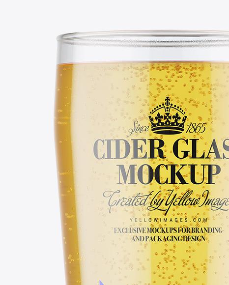Cider Glass Mockup