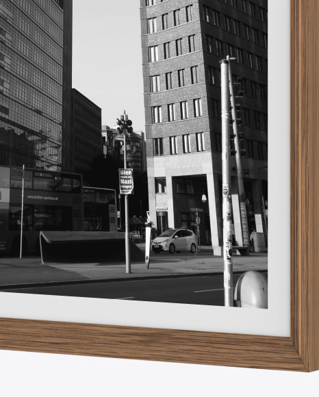 Wooden Frame Mockup - Right Side View