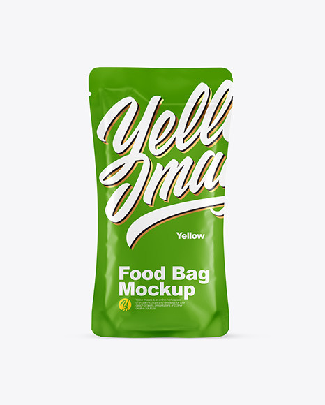 Food Bag With Black Pepper Mockup