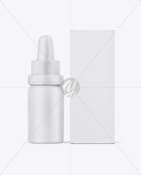 Matte Dropper Bottle W Paper Box Mockup In Bottle Mockups On