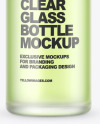 Frosted Glass Bottle Mockup
