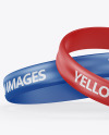 Glossy Silicone Wristbands Mockup