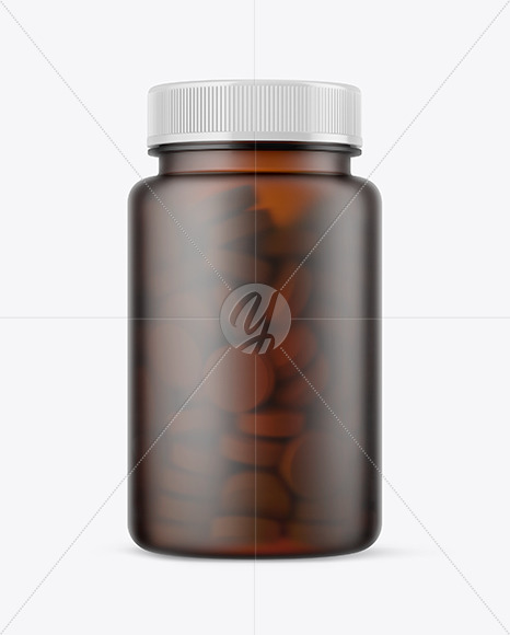 Download Frosted Amber Pills Bottle Mockup In Bottle Mockups On Yellow Images Object Mockups PSD Mockup Templates