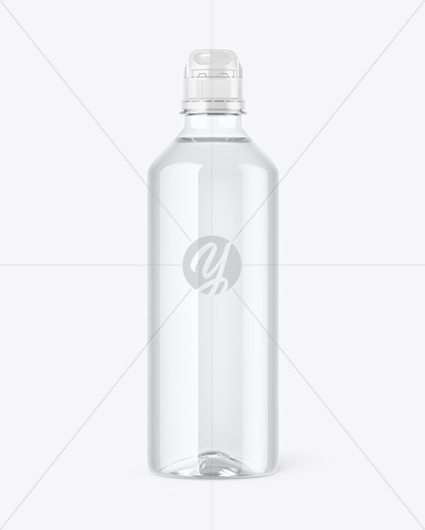 Clear PET Water Bottle Mockup
