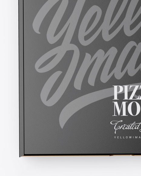 Closed Matte Pizza Box Mockup In Box Mockups On Yellow Images