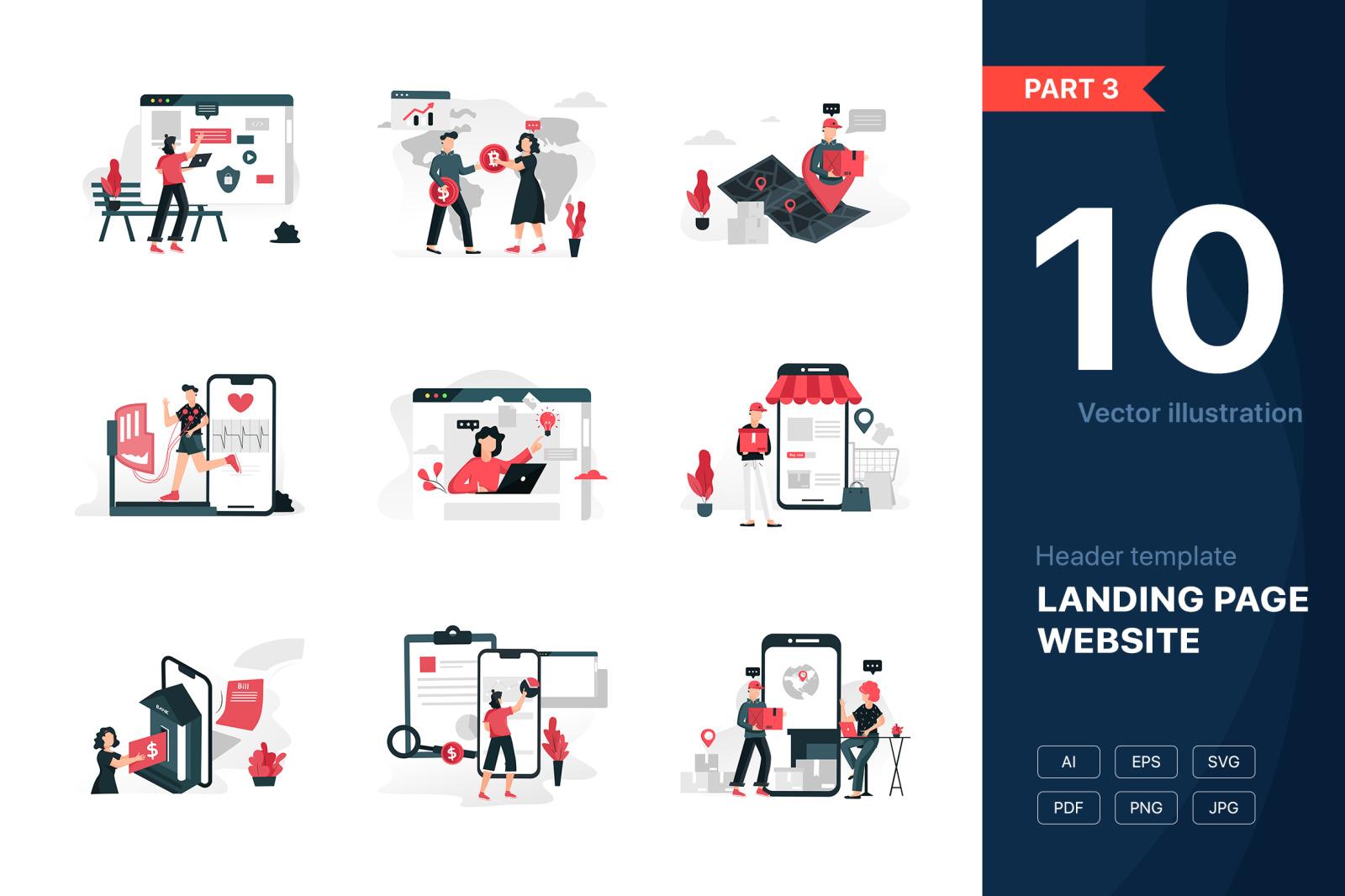 [Part 3] Website Illustrations Set