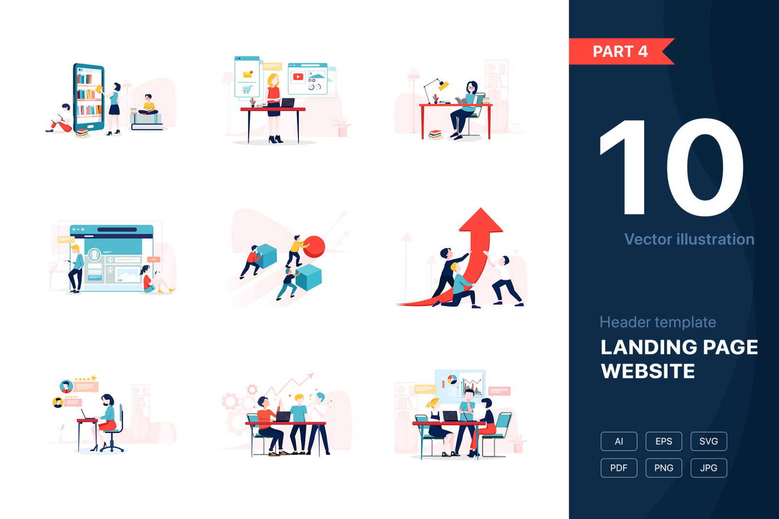 [Part 4] Website Illustrations Set