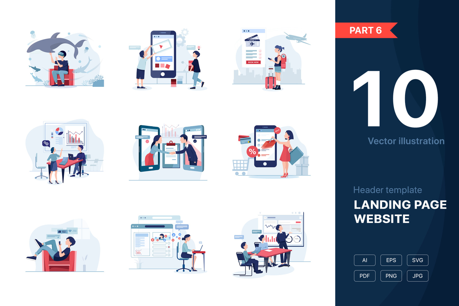 [Part 6] Website Illustrations Set