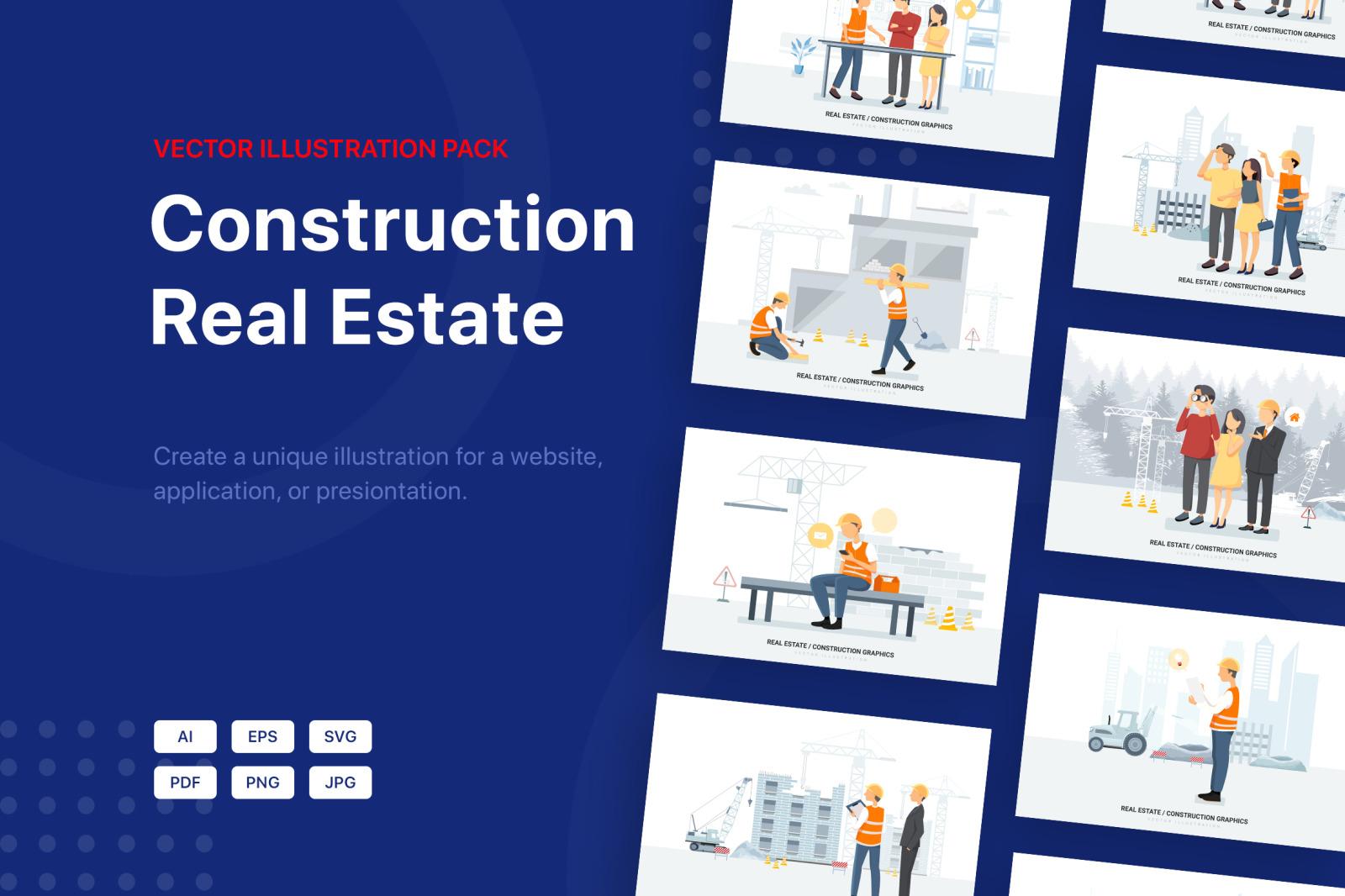 Construction & Real Estate Vector Illustration