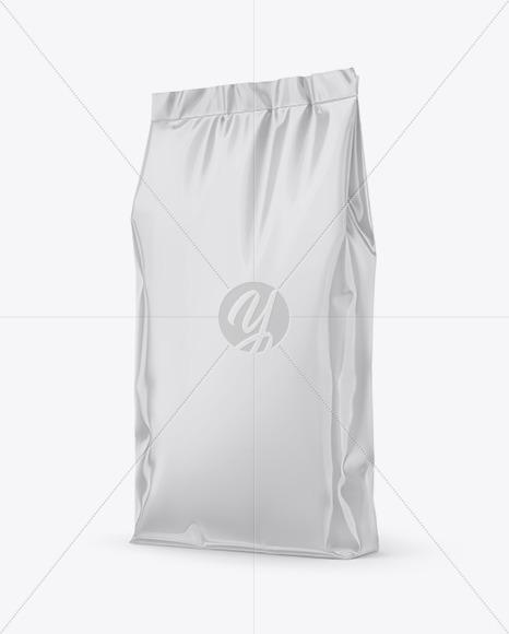 Glossy Stand-Up Bag Mockup - Half Side View
