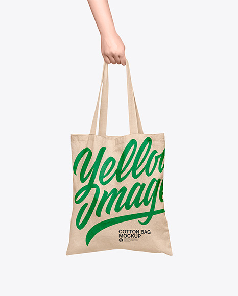 Cotton Bag in a Hand Mockup