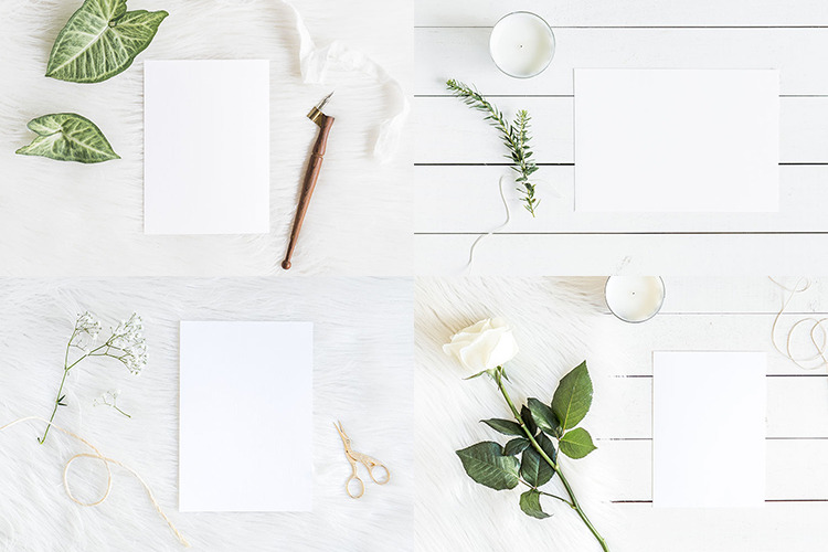 Download Green White Mockups Bundle 2 Bonus In Stationery Mockups On Yellow Images Creative Store PSD Mockup Templates