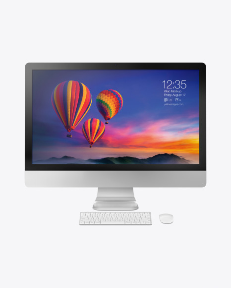 iMac Pro Keyboard and Mouse Mockup - Front View