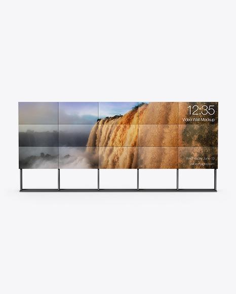 5x3 Video Wall Mockup