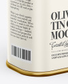 Matte Olive Oil Tin Can Mockup