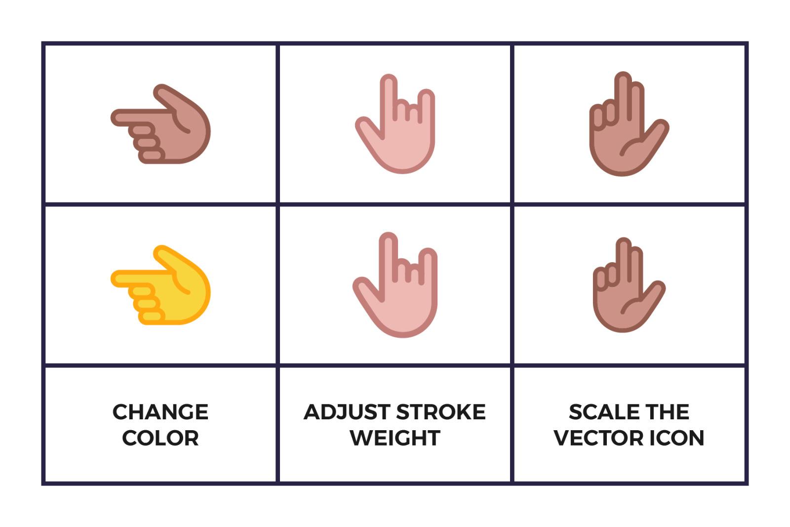 Hand Emoji Icon Set