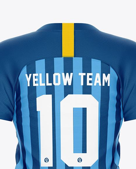 Men's Soccer Jersey Mockup – Back View