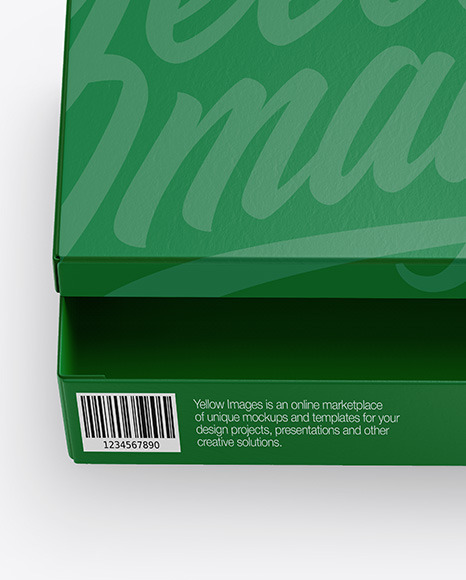 Paper Shoes Box Mockup In Box Mockups On Yellow Images Object Mockups
