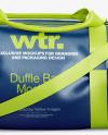 Leather Duffel Bag Mockup