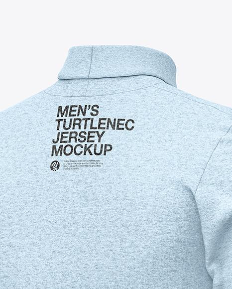 Men's Turtlenec Jersey Mockup