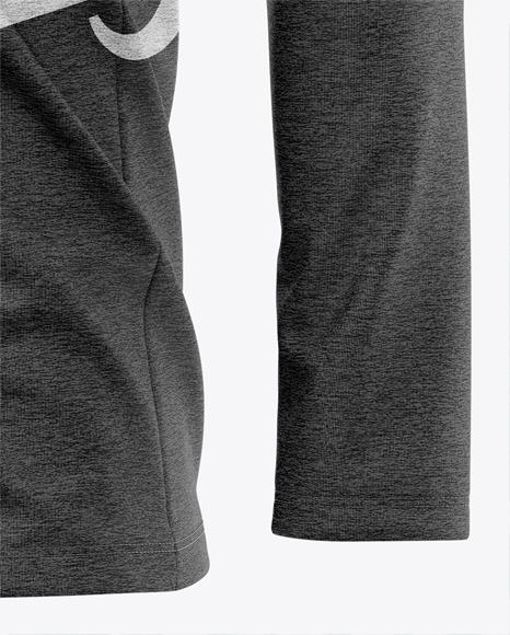 Men's Heather Lightweight Kangaroo Pocket Hoodie T-Shirt - Front Half-Side View
